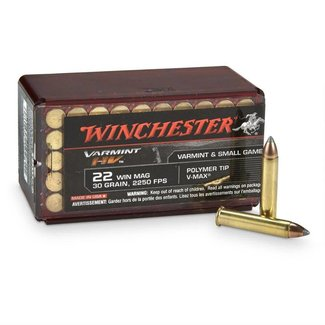 Winchester Winchester Varmint HV .22 WMR, V-Max, 30 Grains, 50/box