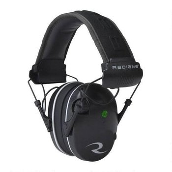 Radians R3200 Dual Mic, Electronic Earmuff, Black/Gray Finish R3200ECS