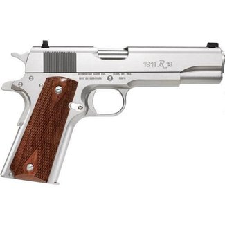 "Remington Remington 1911 R1S Semi-Auto Pistol, .45 ACP, 5"" Barrel, 7 Rounds, Stainless Steel Frame, Walnut Grips"