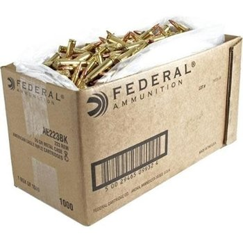 Federal Federal American Eagle .223 REM/5.56 NATO, 500 Rounds, FMJ, 55 Grains