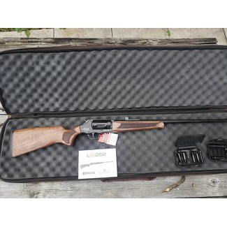 LAZER ARMS REVOLVER ACTION XR410, .410 ga., 3″ Chamber SHOTGUNS, 28″ Vented Ribbed Barrel, Black Finish, Walnut Stock & Forend