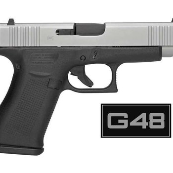 "Glock PRE-ORDER: Glock 48 Semi-Auto Pistol, 9mm, 4.17"" (106mm) Barrel, 10 Rounds, Two Tone, Glock Night Sights (GNS),Full Price: $716.00"