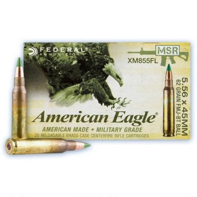 AMERICAN EAGLE 5.56X45MM 62GR FMJ-BT BALL