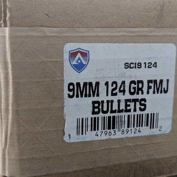 Atlanata .355 9mm 124GR FMJ 1000 Bullets