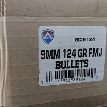 Atlanta .355 9mm 124GR FMJ 1000 Bullets