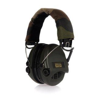 MSA Sordin Supreme Pro-X, OD Green cups, Camo headband, gel earseals