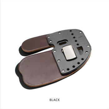 Elite Aluminum Suede and Leather Finger Tab M R/H Black