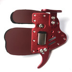 Elite Aluminum Suede and Leather Finger Tab M R/H Red