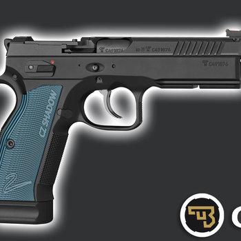 CZ75 SHADOW 2 OR OPTIC READY 9mm 120mmBL Blue Grip