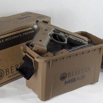 "BERETTA M9A3 9mm 5"" BRL W/3 10rd MAGAZINE & AMMO CASE"