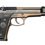 "BEREETA 92FS BURNT BRONZE 9mm 4.9"" 3DOT/BLUED"
