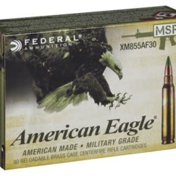 AMERICAN EAGLE 5.56X45MM XM855FL 62GR FMJ-BT BALL 500RDS