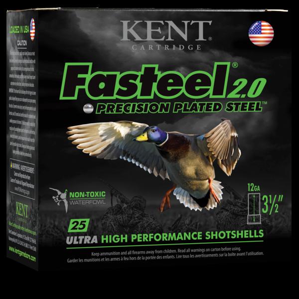 """Kent Fasteel 2.0, 12GA, 3 1/2"""", 1 1/2OZ, 1450FPS-BB"""
