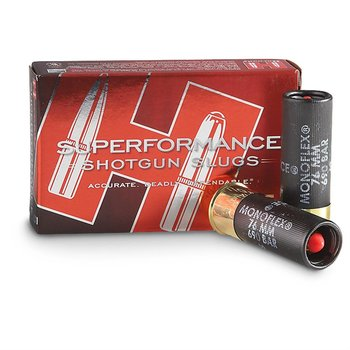 "HORNADY SUPERFORMANCE 12GA SLUG 2 3/4 "" 300gr MONOFLEX FOR RIFLED BARRELS"