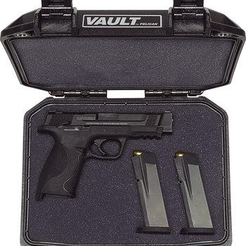 Pelican Vault V100 Small Pistol Case With Foam-Black