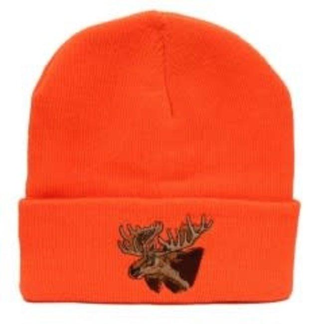Backwoods Thinsulate Knit Touque - Blaze Orange - Deer