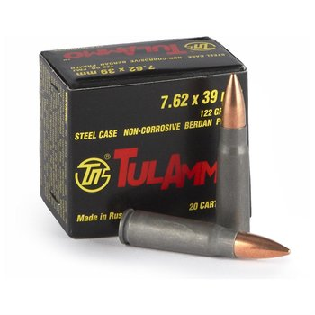 Tulammo 7.62x39mm HP 122gr NON-corrosive 20rs single