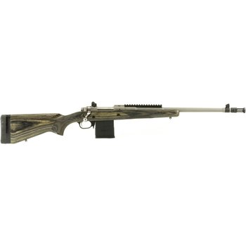 Ruger Gunsite Scout Bolt Action Rifle  308WIN 18'' Barrel, 10+1 Round, L/wood Stock, Stainless Steel