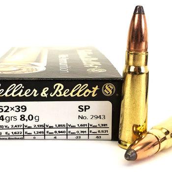 Sellier&Bellot 7.62x39  123gr  Soft Point (SP)