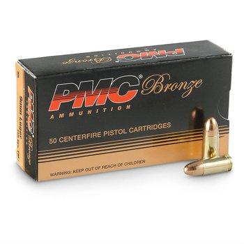 PMC Bronze Pistol Ammo 9X19mm 124gr FMJ 1000rd