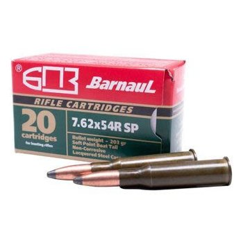Barnaul 7.62x54R 203 Grain Bi-Metal SP 20 Round Box