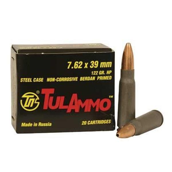 Tulammo 7.62x39mm HP 122gr NON-corrosive 1000rs