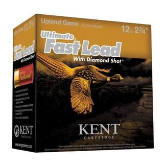 "Kent Cartridge KENT ULTIMATE FAST LEAD 12GA 2 3/4"" 1 3/8OZ #4 1475FPS 250/box"