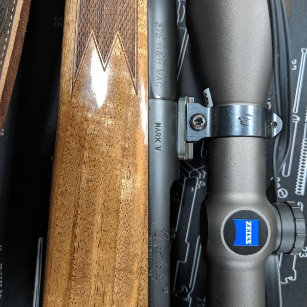 Mark V®  Deluxe MARK V 375 H&H MAG (EXCELLENT CONDITION ) WITH ZEISS  DURALYT 3-12X50 SCOPE