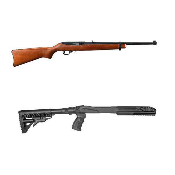 "Ruger 10/22 Carbine Rifle, .22LR 18.5""  FAB stock combo"