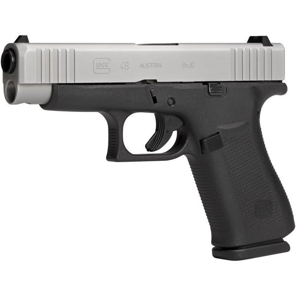 "Glock GLOCK G48 HGA, 4.17"" BARREL, 9MM, SILVER"