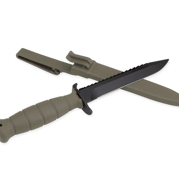 Glock Green Field Knife with Saw Packaged