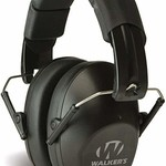 WALKERS HEARING  PROTECTION BLACK PRO LOW PROFILE
