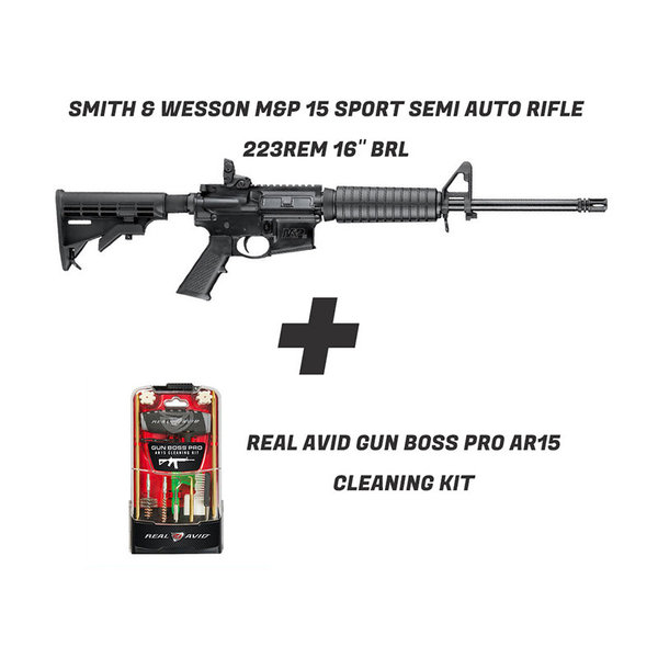 Smith & Wesson M&P 15 + Real Avid Gun Boss Pro AR15 cleaning kit
