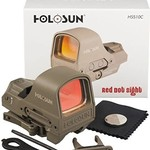 HOLOSUN HS510C -FDE SOLAR OPEN FRAME CIRCLE RED DOT WITH QD MOUNT FDE