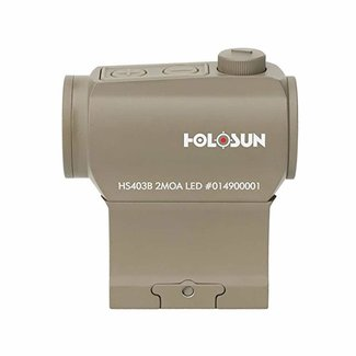 Holosun Paralow FDE Red Dot Sight 1x 2 MOA Dot, Weaver-Style Low and Lower 1/3 Co-Witness Mounts, Matte Black