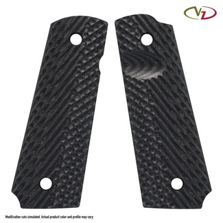 1911 VZ OPERATOR III™ - FULL SIZE GRIPS Black Slim Size Line-Standard Thumb Notch Release Extended Ambi Safety