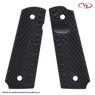 1911 VZ OPERATOR III™ - FULL SIZE GRIPS  CARBON FIBER Size-Thumb Notch/Mag Release Extended Safety