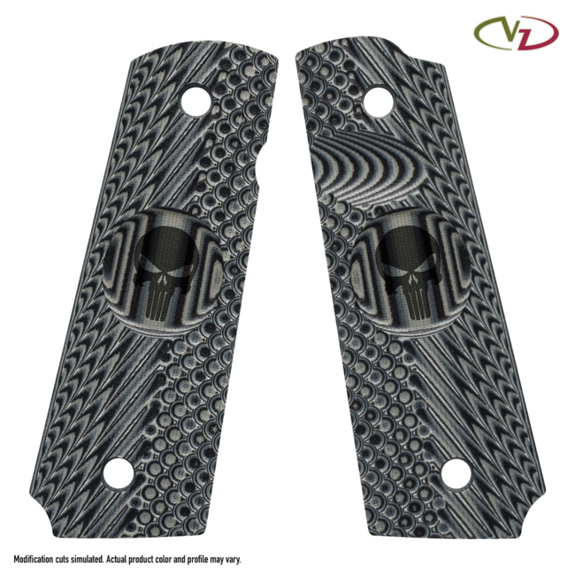 1911 VZ OPERATOR II™ - FULL SIZE GRIPS Black-Gray Slim Size Line-Standard Thumb Notch Release Extended safety