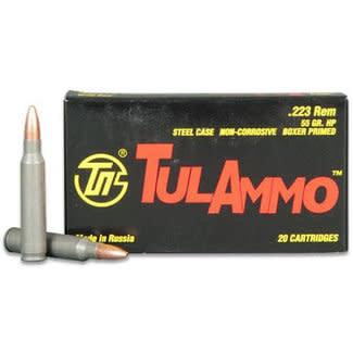 Tulammo 223 REM HP 55gr Steel Case NON-corrosive 20RS
