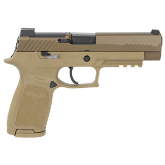 Sig Sauer Sig Sauer P320 M17 No Manual Safety 9mm 4.7″ BRL Coyote Tan