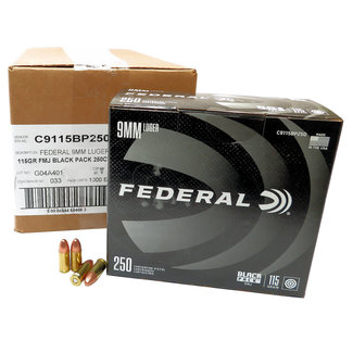 Federal FEDERAL BLACK PACK 9MM 115GR BLAZER BRASS 1000RDS