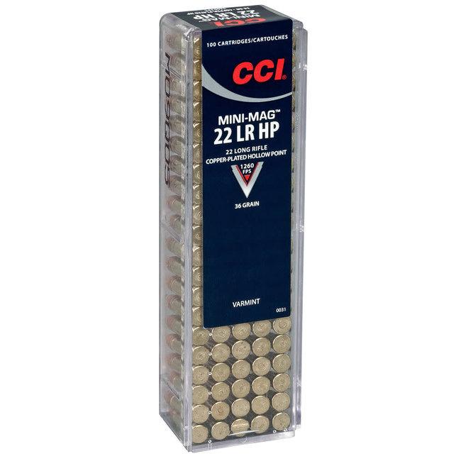 CCI CCI 22LR MINI-MAG, HIGH-VELOCITY, 40Gr RN 5000/Case