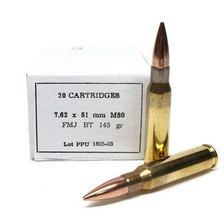 PPU  7.62x51 M80 FMJBT 20Rd/Box