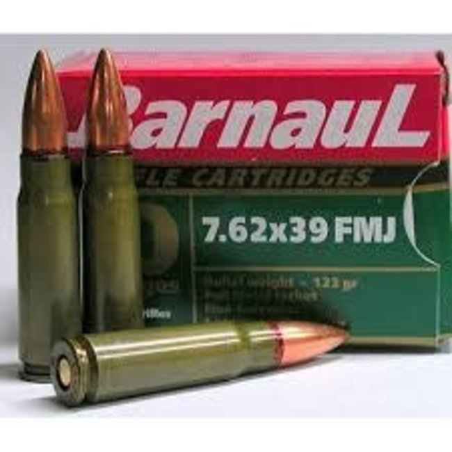 BARNAUL c.7.62X39 123GR FMJ GREEN Non-Corrosive 500RS
