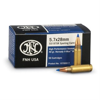 FN FN SS197SR Ammunition 5.7x28mm FN 40 Grain Hornady V-MAX Box Of 50