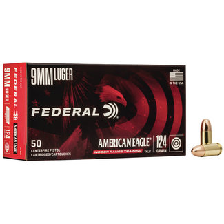 Federal  American Eagle Pistol Ammo  9 mm 124gr FMJ 1000RS/Case