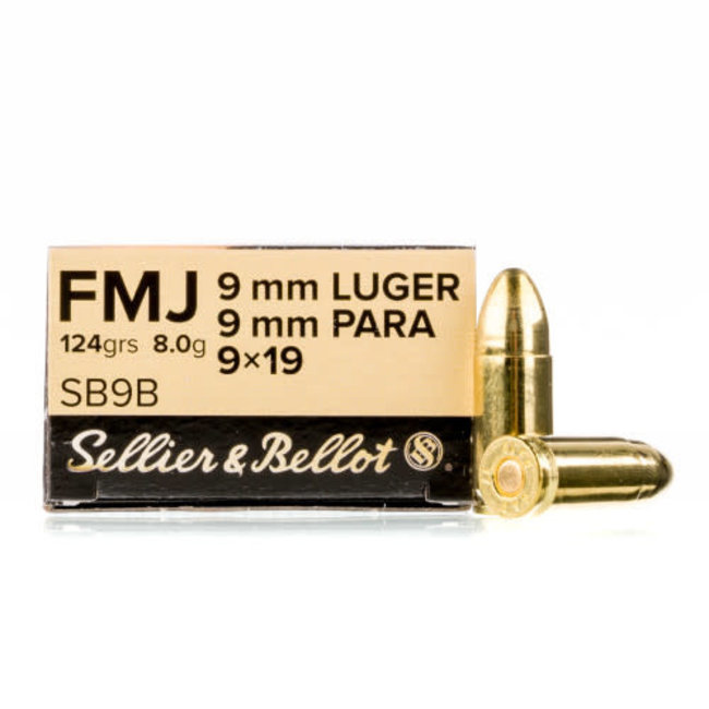 Sellier & Bellot Sellier & Bellot (S&B) 9mm PARA 124 FMJ 50rds