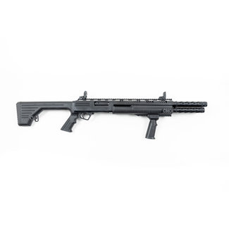 """HUNT GROUP HUNT GROUP MH12 PUMP 12GA 3"""" 14+2rds 20""""BL FIXED  STOCK BLACK  WITH M4 STOCK"""