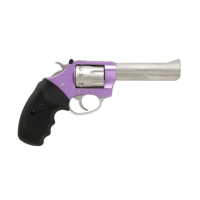 "Charter Arms Pathfinder LITE .22LR 4.2"" Stainless Adj Full Size Grip Lavender"