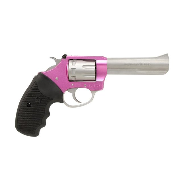 """Charter Arms Pathfinder LITE .22LR 4.2"""" Stainless Adjustable Full Size Grip Pink"""